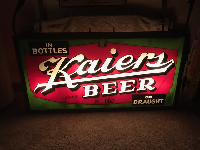 Kaiers Beer Outdoor Lighted Sign