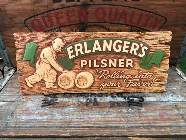 erlanger pilsner beer composite sign