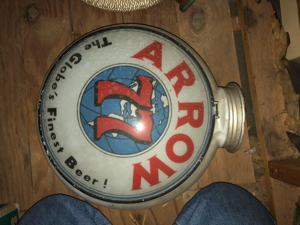 arrow 77 beer gill globe lighted sign gillco