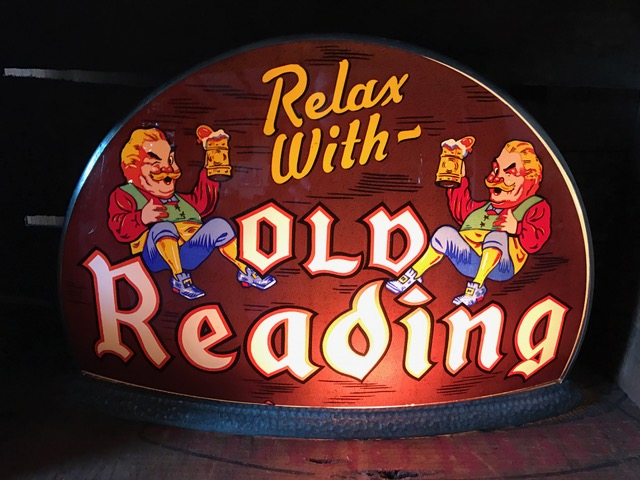 old reading beer gillco sign