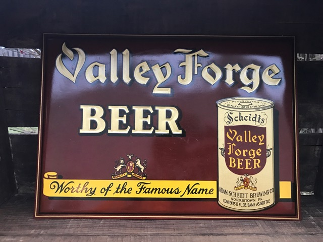 valley forge beer toc sign donaldson art sign company