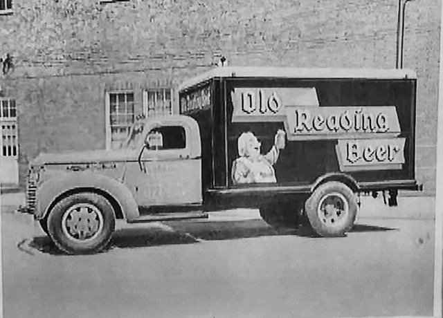 old reading brewery beer delivery truck