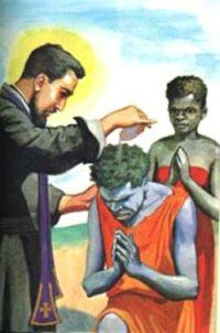 Święty Piotr Klawer chrzczący Murzynów