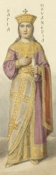 Fresk przedstawiający św. Pulcherię