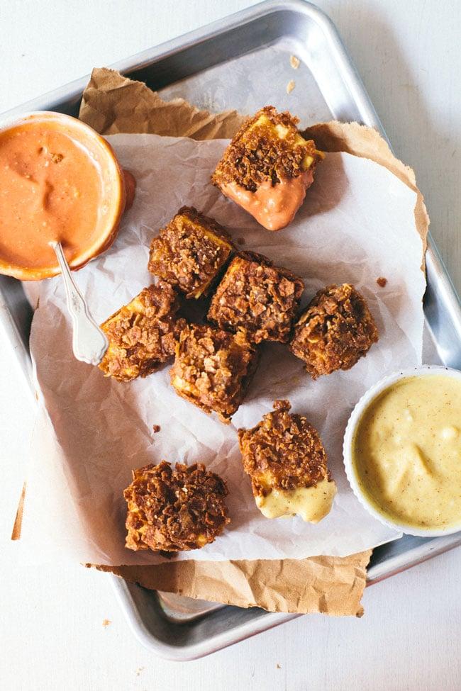 cajun tofu nuggets