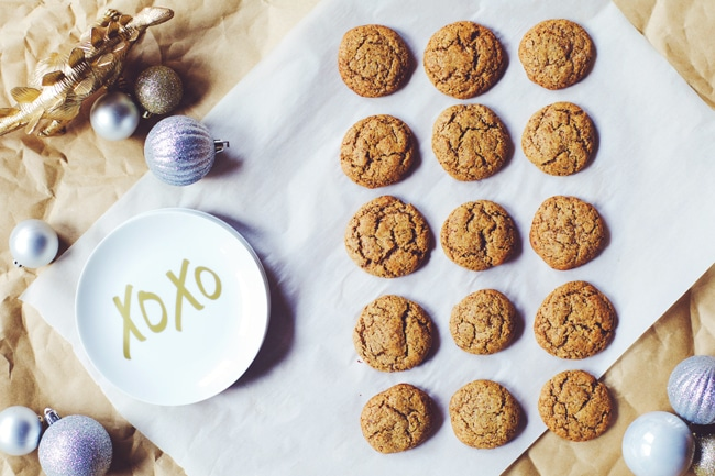 molasses cookies made with coconut sugar!