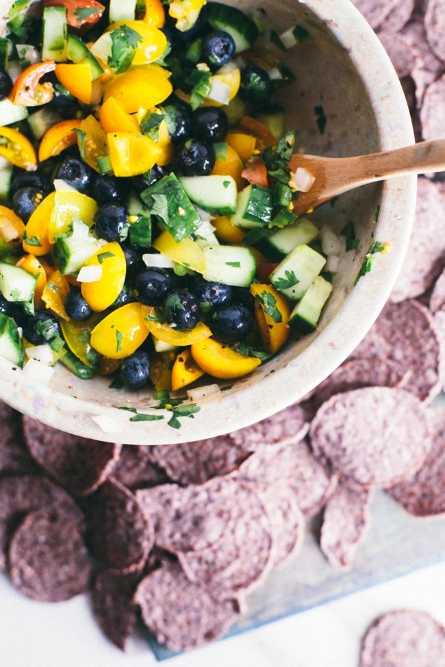 blueberry cucumber detox salsa