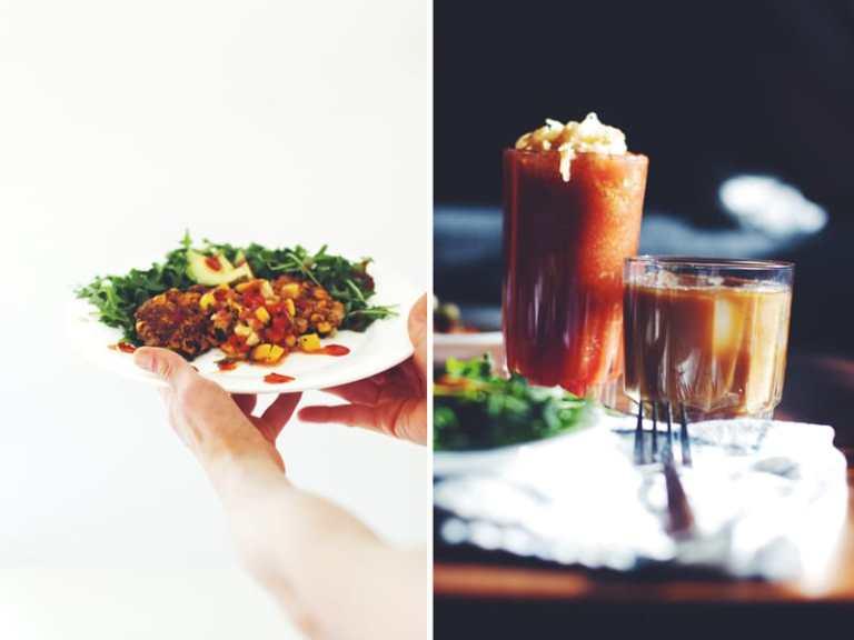 Brunch : Corn Cakes & Kimchi Bloody Marys