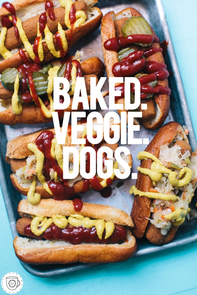 vegetarian baked veggie dogs with ingredients you can pronounce!