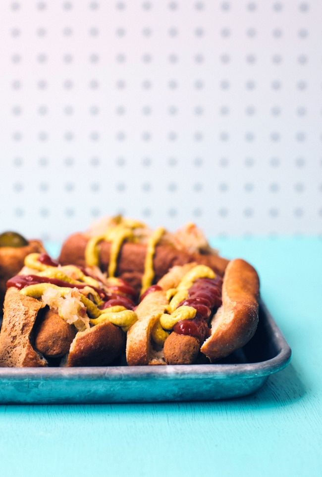 baked veggie dogs