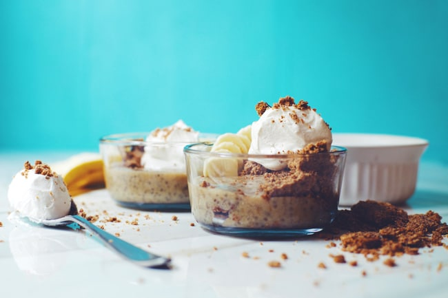 healthy banana pudding