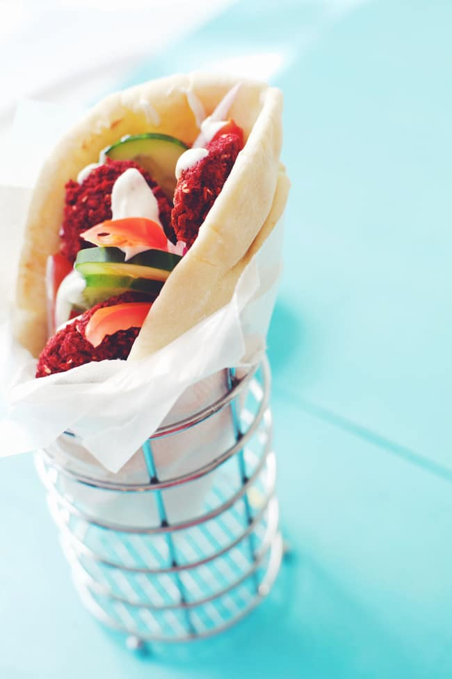 healthy beet burger greek wrap