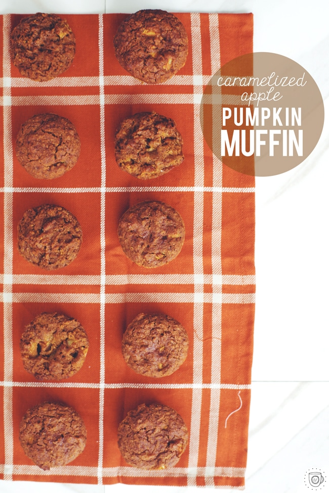 apple pumpkin muffin