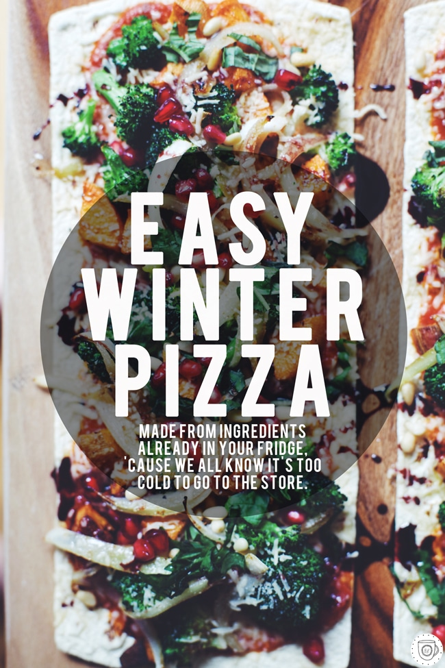 snowed in? Try this pizza with what's already in your fridge!