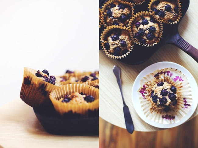simple and easy bran muffins are packed with dates, raisins and blueberries