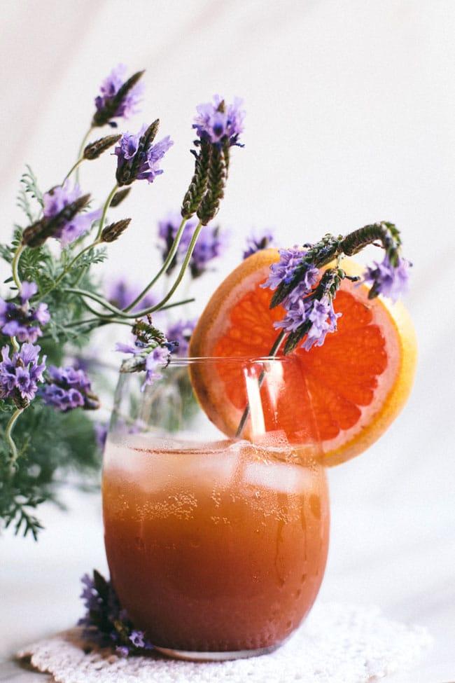 lavender grapefruit sparkler