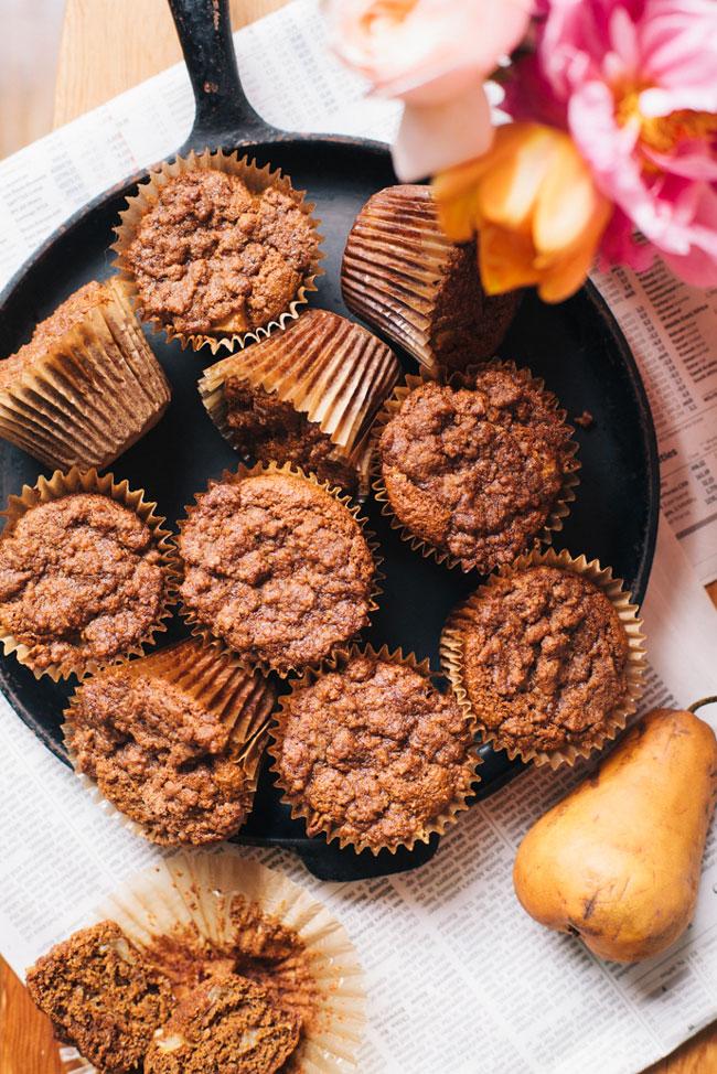 chai spiced pear muffins