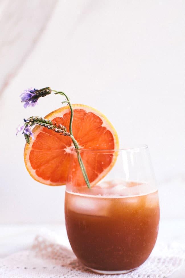 grapefruit and lavender sparkler