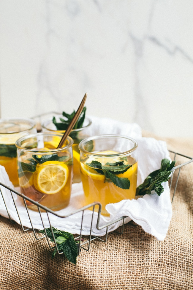 honey sweetened green tea sangria