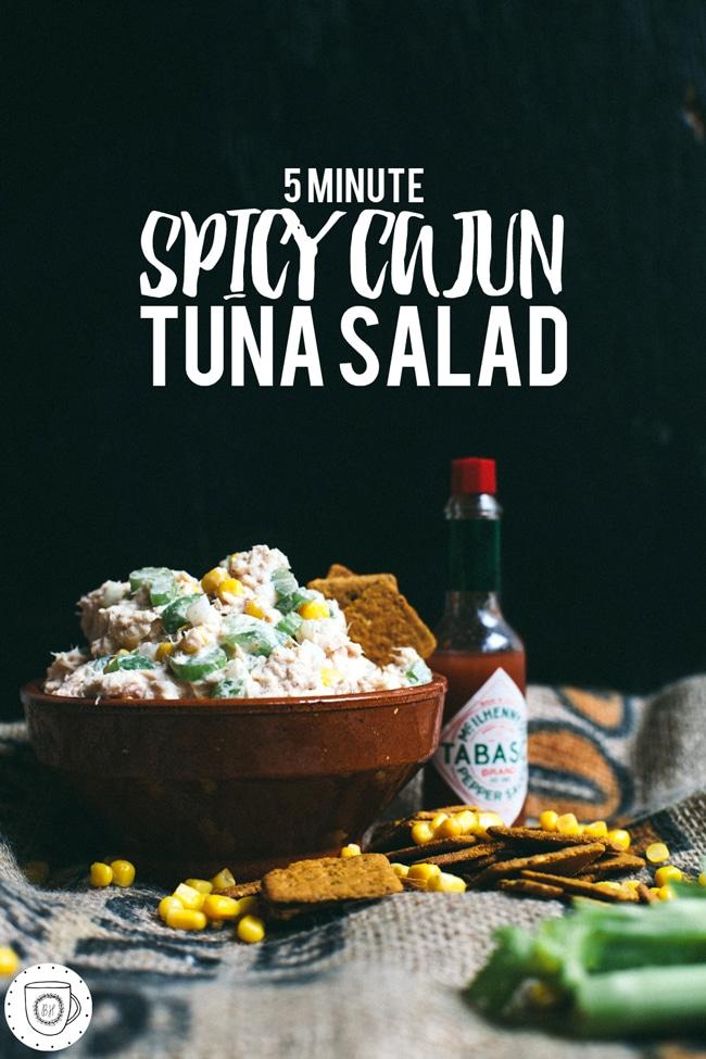 a cajun inspired tuna salad