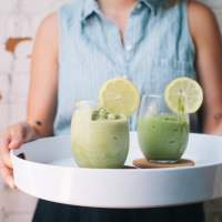 healthy green tea breakfast smoothie