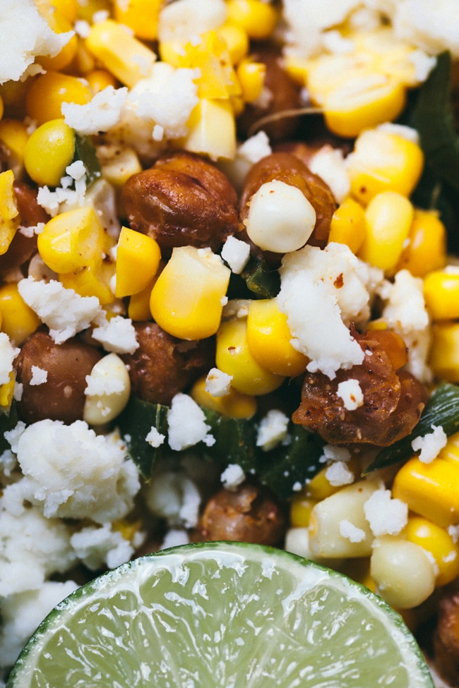 crispy chickpea street corn