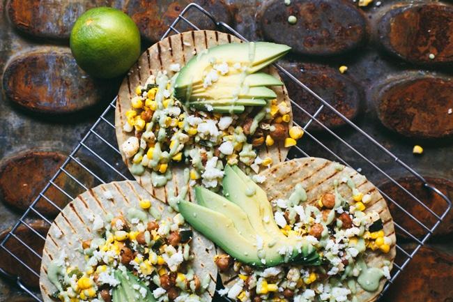 chickpea street corn tacos