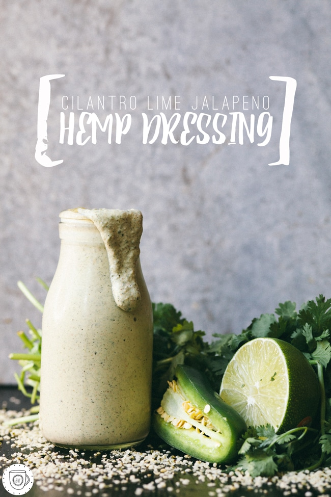 creamy hemp dressing for bowls, salads, or any kind of dipping!