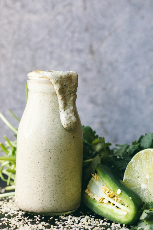 cilantro lime jalapeno hemp dressing