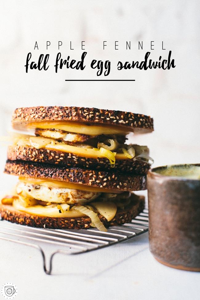 Apple Fennel Fall Fried Egg Sandwich | Brewing Happiness