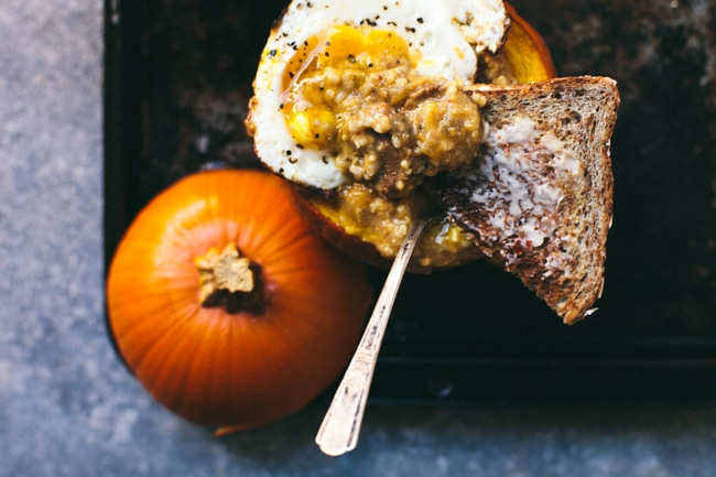 Savory Pumpkin Grits Breakfast Bowl