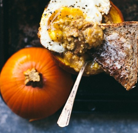 Savory Pumpkin Grits Breakfast Bowl | Brewing Happiness