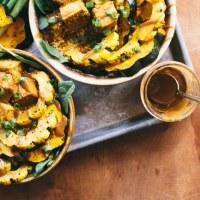 30-Minute Crispy Tofu & Squash Autumn Bowl | Brewing Happiness
