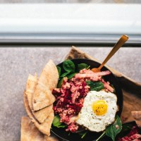 Beet Farro Mediterranean Salad | Brewing Happiness