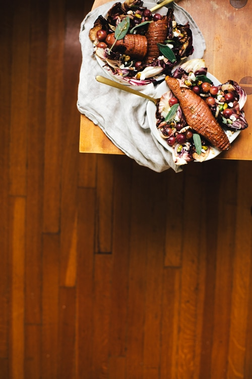 Sweet Potato Sheet Pan Dinner Salad | Brewing Happiness