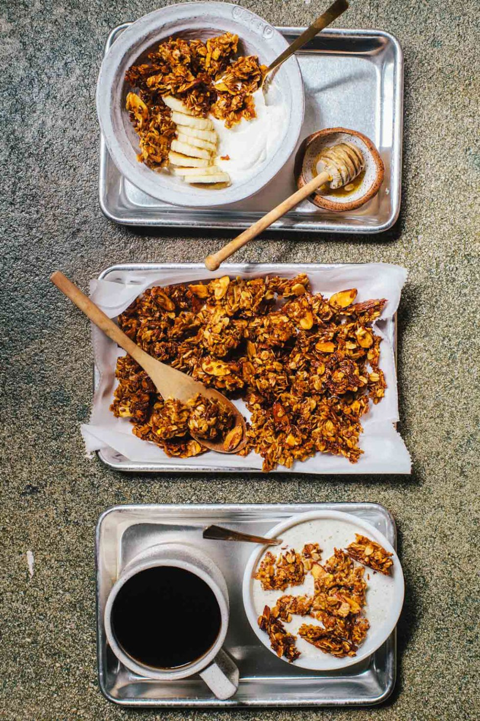 Honey and Bee Pollen Granola | Brewing Happiness