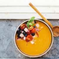 Tomato Watermelon Gazpacho | Brewing Happiness
