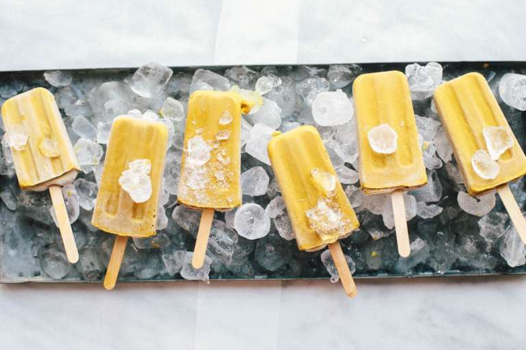 Dairy-Free Golden Fudgesicles