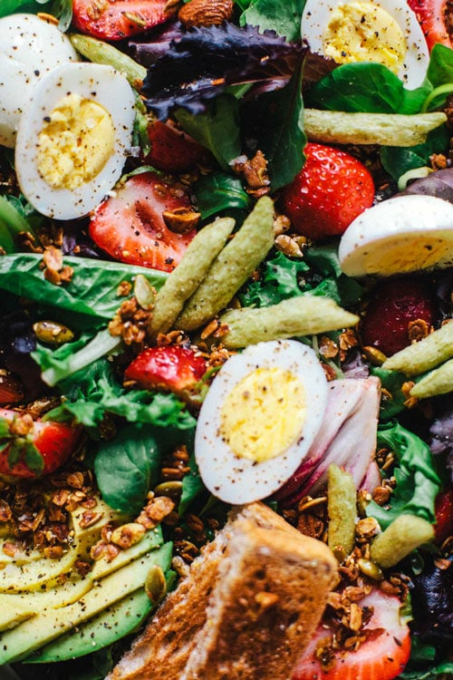 Green Goddess Breakfast Salad | Brewing Happiness