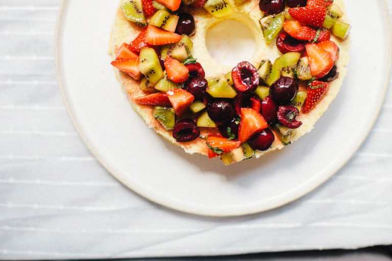 Healthy Angel Food Cake | Brewing Happiness