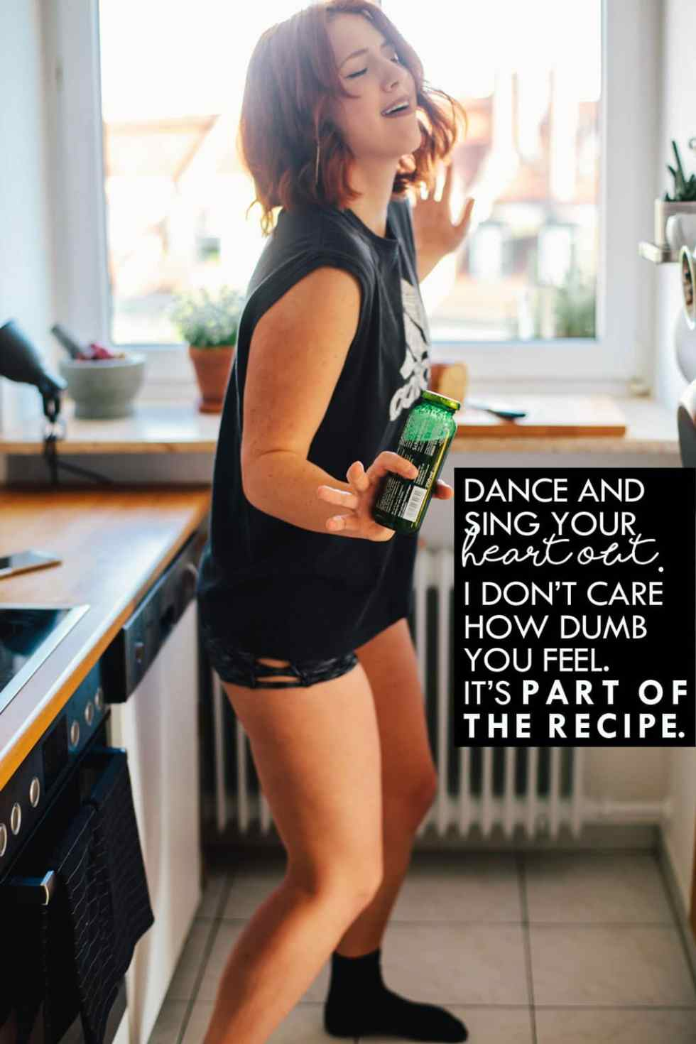 A guide for making your mornings happier that includes dancing and singing in your kitchen (no matter how dumb you feel.)