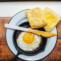 Healthy Southern Buttermilk Biscuits made with Ghee | Brewing Happiness