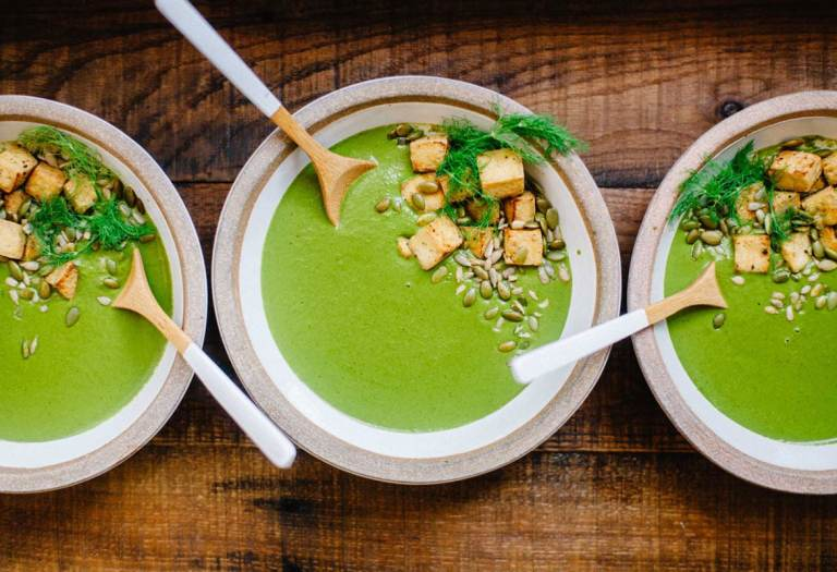 Super Greens Soup with Fennel and Caraway | Brewing Happiness