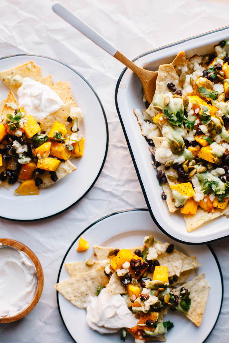 Simple and delicious loaded pumpkin nachos are a great healthy treat!