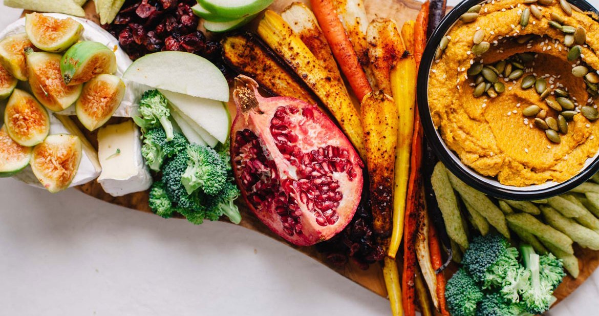 Toasted Sesame and Pumpkin Dip with an Easy Holiday Crudite Platter