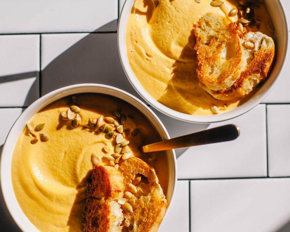 Creamy Cashew Cardamom Butternut Squash Soup   Brewing Happiness