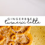This dairy-free Gingerbread Turmeric Latte is the perfect cozy treat for winter, and it can be made in your blender in less than 5 minutes! #latte #drink #dairyfree | Brewing Happiness