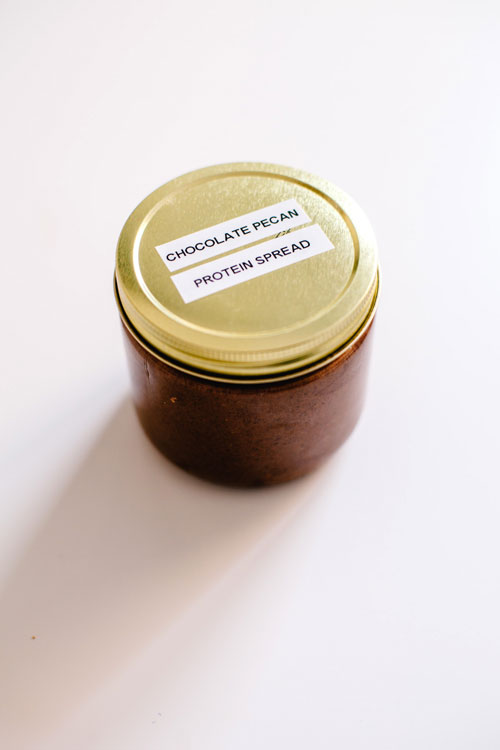 chocolate pecan protein spread