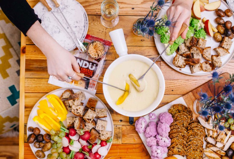 How to Throw a Healthyish Cheese Fondue Party | Brewing Happiness