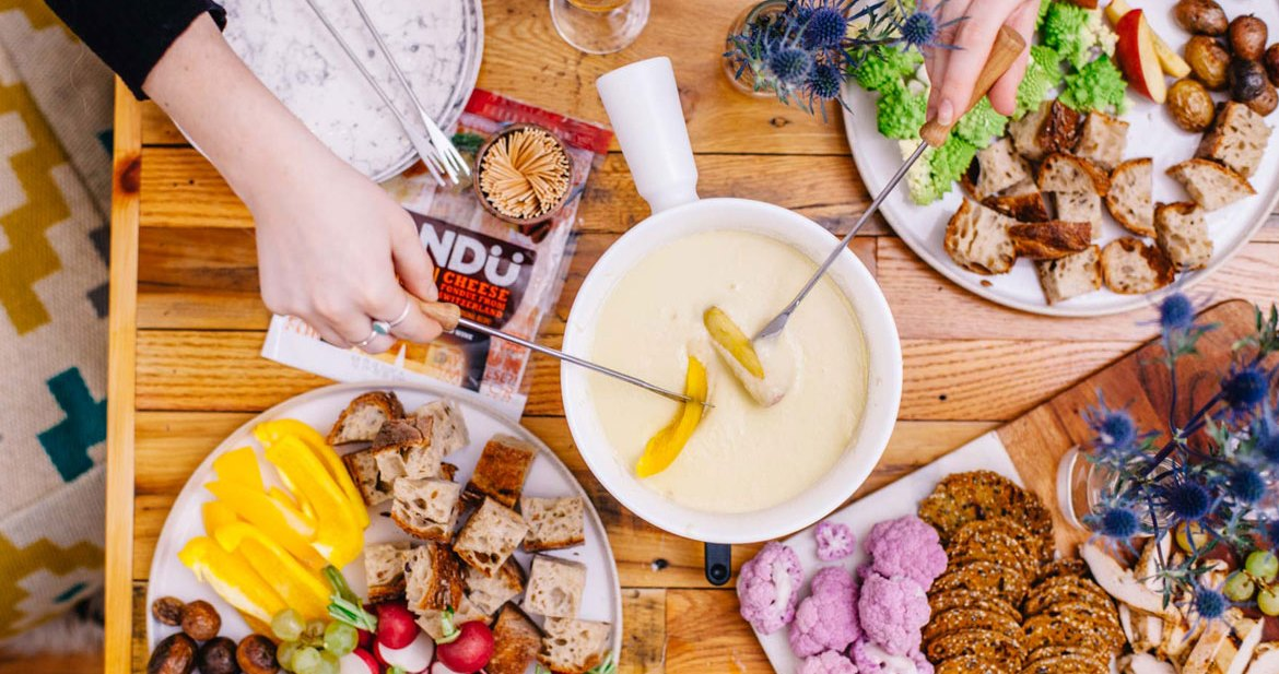 How to Throw a Healthyish Cheese Fondue Party   Brewing Happiness